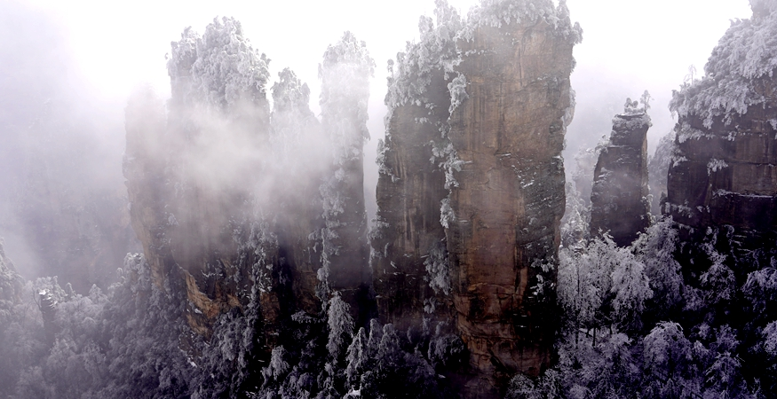 Zhangjiajie national forest park -winter tour