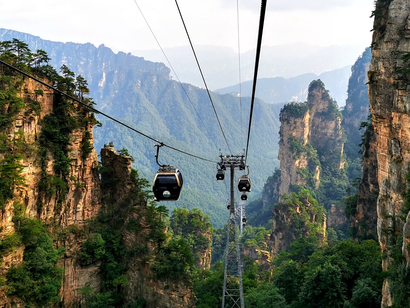 Zhangjiajie Tianzi Mountain Cable Way