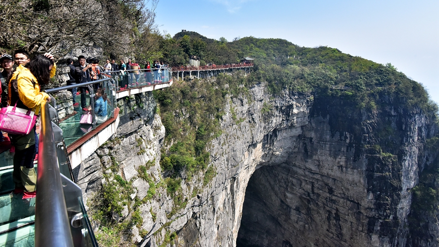 East Glass Walk on Zhangjiajie Tianmen Mountain