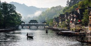 Beautiful Bridge in Fenghuang,Hunan Province