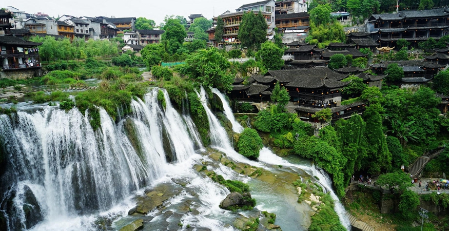 Waterfall in Furong Town, Hunan