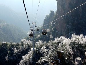 Zhangjiajie national forest park -Tianzi Mountain Cable Car